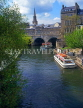 UK, Avon, BATH, River Avon and Pulteney Bridge, BAT306JPL