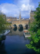 UK, Avon, BATH, River Avon and Pulteney Bridge, BAT308JPL