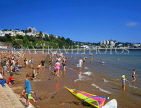 UK, Devon, TORQUAY, Abbey Sands, beach and holidaymakers, DEV314JPL