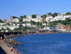 UK, Devon, TORQUAY, town centre and coast by Abbey Sands,  DEV326JPL