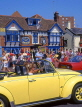 UK, Dorset, Bournmouth, Poole, Jolly Sailor pub and yellow VW, Poole Quay, DOR737JPL