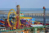 UK, Essex, Southend-On-Sea, Adventure Island, and Rage roller coaster ride, UK6826JPL