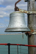 UK, Essex, Southend-On-Sea, Southend Pier, RNLI Lifeboat Station, historic firebell, UK6897JPL