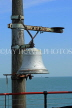 UK, Essex, Southend-On-Sea, Southend Pier, RNLI Lifeboat Station, historic firebell, UK6898JPL