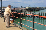 UK, Essex, Southend-On-Sea, Southend Pier, angler, UK6865JPL
