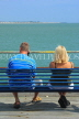 UK, Essex, Southend-On-Sea, Southend Pier, couple on bench, UK6869JPL
