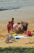 UK, Essex, Southend-On-Sea, Three Shells Beach, children building sand castle, UK6810JPL