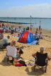 UK, Essex, Southend-On-Sea, Three Shells Beach, holidaymakers, UK6807JPL