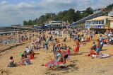 UK, Essex, Southend-On-Sea, Three Shells Beach, holidaymakers, families, UK6808JPL