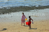 UK, Essex, Southend-On-Sea, beach, children with bucket and spade, UK6803JPL