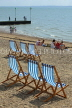UK, Essex, Southend-On-Sea, coast and beach, deckchairs, UK6794JPL