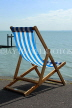 UK, Essex, Southend-On-Sea, deckchair facing sea, UK6795JPL