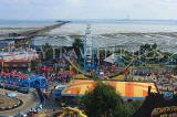 UK, Essex, Southend-On-Sea, funfairs and coastal view, UK6833JPL