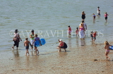 UK, Essex, Southend-On-Sea, people paddling, UK6802JPL