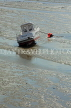UK, Essex, Southend-On-Sea, small boat at low tide, UK6841JPL