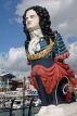 UK, Hampshire, PORTSMOUTH, Gunwharf Quays, ship figurehead, UK6669JPL