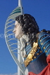 UK, Hampshire, PORTSMOUTH, Gunwharf Quays Spinnaker Tower and ship figurehead, UK6528JPL
