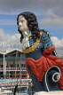 UK, Hampshire, PORTSMOUTH, Gunwharf Quays and ship figurehead, UK6532JPL