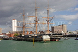 UK, Hampshire, PORTSMOUTH, HMS Warrior and waterfront, UK6656JPL
