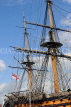 UK, Hampshire, PORTSMOUTH, Historic Dockyard, HMS Victory, masts, UK6630JPL