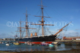 UK, Hampshire, PORTSMOUTH, Historic Dockyard, HMS Warrior, UK6508JPL