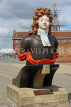 UK, Hampshire, PORTSMOUTH, Historic Dockyard, figurehead of HMS Benbow, UK6672JPL