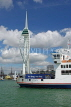 UK, Hampshire, PORTSMOUTH, Spinnaker Tower and ferry, UK6537JPL