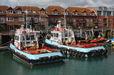 UK, Hampshire, PORTSMOUTH, harbour and tug boats, UK6553JPL