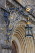 UK, Hampshire, WINCHESTER, The Great Hall, elaborate lamp by entrance, UK7941JPL