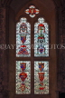 UK, Hampshire, WINCHESTER, The Great Hall, stained glass window, depicting Courts of Arms, UK8091JPL