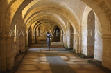 UK, Hampshire, WINCHESTER, Winchester Cathedral, crypt, A Gormley's 'Sound II' statue, UK8023JPL