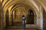 UK, Hampshire, WINCHESTER, Winchester Cathedral, crypt, A Gormley's 'Sound II' statue, UK8024JPL