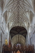 UK, Hampshire, WINCHESTER, Winchester Cathedral, elaborate nave ceiling, UK8039JPL