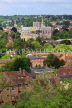 UK, Hampshire, WINCHESTER, Winchester Cathedral and town, view from St Giles Hill, UK7961JPL