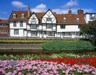 UK, Kent, CANTERBURY, West Gate Gardens and River Stour, timber framed houses, CTB213JPL