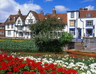 UK, Kent, CANTERBURY, West Gate Gardens and River Stour, timber framed houses, CTB215JPL