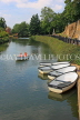 UK, Kent, TONBRIDGE, River Medway and rowing boats moored, boating, UK13269JPL