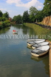 UK, Kent, TONBRIDGE, River Medway and rowing boats moored, boating, UK13270JPL