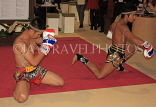 UK, LONDON, ExCel Centre, World Travel Market show, Thailand stand, Thai Boxing, UK31124JPL