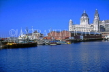 UK, Lancashire, LIVERPOOL, Liver building and Albert Docks, UK5500JPL