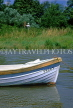 UK, Sussex, Arundel, River Arun and small boat, UK5525JPL