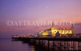 UK, Sussex, BRIGHTON, Palace Pier, illuminated at dusk, BRG119JPL