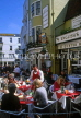 UK, Sussex, BRIGHTON, The Lanes, outdoor cafe scene, UK5226JPL