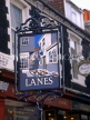 UK, Sussex, BRIGHTON, The Lanes, wrought iron sign, UK5217JPL