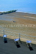 UK, Sussex, Bexhill on Sea, beach and deckchairs, view from De La Warr Pavilion, UK6120JPL