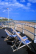 UK, Sussex, Bexhill on Sea, coast and deckchairs, view from De La Warr Pavilion, UK6119JPL