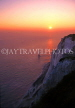 UK, Sussex, EASTBOURNE, Beachy Head, Lighthouse and cliffs at sunset, UK4389JPL