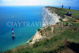 UK, Sussex, EASTBOURNE, beachy head, Lighthouse and cliffs, UK4427JPL