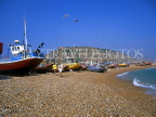 UK, Sussex, HASTINGS, Fishermen's Beach, boats and East Cliffs, HAS030JPL