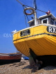 UK, Sussex, HASTINGS, Fishermen's Beach, fishing boat stern, HAS38JPL